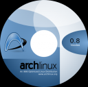 Arch Linux 0.8 Voodoo cd label 2