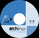 Arch Linux 0.8 Voodoo cd label 1